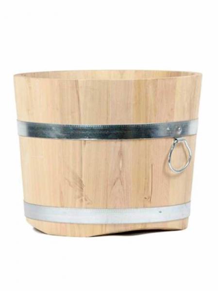 runder Robinienholztopf / H: 40 cm Ø: 50 cm Gewicht: 13 kg Nr. 323