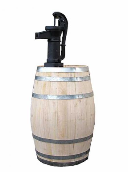 Weinfass bzw. Regentonne 100 Liter inkl. Pumpe / H: 116 cm Ø: 48 cm Gewicht: 28 kg (Kastanie) M:560