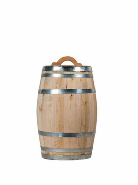 Weinfass bzw. Regentonne 100 Liter / H: 78 cm Ø: 40 cm Gewicht: 20 kg (Kastanie) Nr. W388