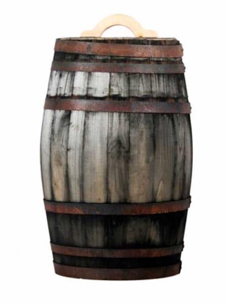 Weinfass bzw. Regentonne 100 Liter / H: 78 cm Ø: 40 cm Gewicht: 20 kg (Kastanie old) Nr. W302