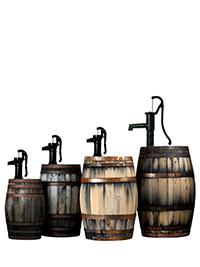 Weinfass mit Pumpe