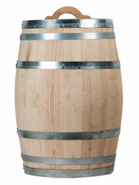 Weinfass bzw. Regentonne 150 Liter / H: 85 cm Ø: 56 cm Gewicht: 27 kg (Kastanie) Nr. W700